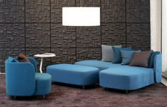 Minima by Claesson Koivisto Rune Blue Sofa Design, Kb Homes, My Furniture, Showcase Design, Creative Outlet, Favim, Brown Wood, Corner Sofa, Room Interior