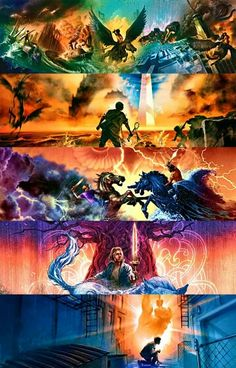 Percy Jackson and The Olympus The Kane Chronicles Heroes of Olympus Magnus Chase and The Gods of Asgard Trials of Olympus Thanks... Rick.
