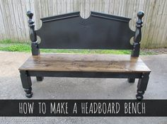 Instead of throwing out an old headboard, consider repurposing it into a useful headboard bench to have as extra furniture for your home, patio, or garden.