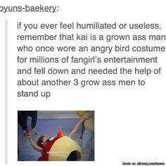 On those rare times Kai fails, he fails HARD. xD