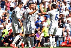 LaLiga football returned to the Santiago Bernabeu on Saturday, as Real Madrid hosted newly promoted Osasuna. Cristiano Ronaldo , who had been out of action since July's Euro 2016 final, was back in the Real side. Real Madrid Vs Osasuna, Nacho Fernandez, Real Madrid Cristiano Ronaldo, Alvaro Morata, Chelsea, Full Match, Best Football Team, Soccer World, Sergio Ramos