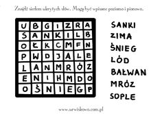 "Zimowe kolorowanki - styczeń ~ ""URWISKOWO"" Periodic Table, Coding, Activities, Words, Speech Language Therapy, Therapy, Periodic Table Chart, Periotic Table, Horse"