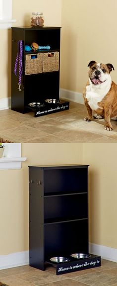 Dog Lover Products 116378: Dog Storage Cabinet Pet Feeder Station Water Food Bowl Furniture Supply Center -> BUY IT NOW ONLY: $81.98 on eBay!