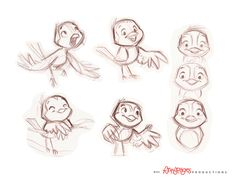 Little bird rough studies by ~chewgag on deviantART