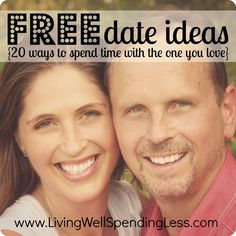 Free Date Ideas--20 ways to spend time with the one you love for my brides trying to save a lot of dough @Catie @ Catie's Corner Zimmerman and @Stoushy Shockaa