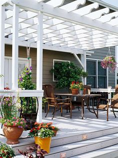 Smart Stairs: The stairs were extended across the entire length of the deck to provide additional outdoor seating. This also helps to open up the space visually and create a better transition to the yard
