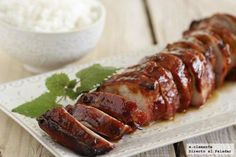 Solomillo Laqueado Pork Recipes, Mexican Food Recipes, Cooking Recipes, Bon Appetit Bien Sur, Good Food, Yummy Food, Tapas, Cooking Time, I Foods