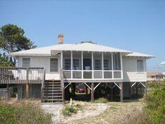 Edisto Realty - The Last House - Classic Beachfront Cottage on the St. Helena Sound - Edisto Island, SC