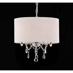 Crystal Chandelier with Shade Drum 3 Light Pendant Ceiling Lamp Lighting Fixture for sale online 3 Light Chandelier, Pendant Chandelier, Hanging Pendants, Bedroom Lighting, Interior Lighting, Home Lighting, Lighting Ideas, Lighting Store, Bedroom Decor