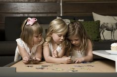 precious little girls-- this reminds me so much of the actual picture of the three of us coloring