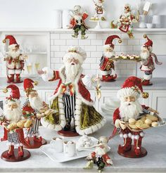 Frontgate Mark Roberts Santa Figurines
