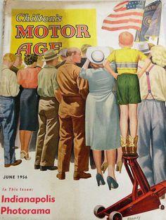 Chilton's Motor Age, June 1956. (Cover art by Harry C Bradley)