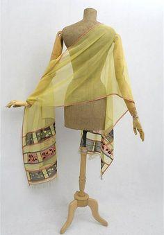 Silk gauze rectangular shawl, 1810-1820