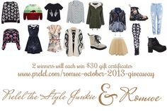I am giving away $60 credits to spend at ROMWE! More on this on my blog http://www.prelel.com/post/64465716992/galacia-outfit-romwe-gift-card-giveaway-october-2013