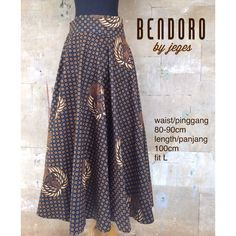 BENDORO by jeges flare batik maxi skirt material and measurement information is available on the picture available one piece for order contact +62811882996  #jeges #batik #indonesia #localbrand #fashion #ethnic #iphone5s #nofilter