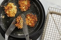 The easy way to make the best latkes starts in the freezer aisle - #potatolatkes - The easy way to make the best latkes starts in the freezer aisle...