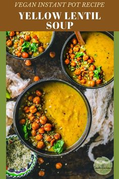 Dal Shorba is an Indian vegan soup recipe. This Instant pot vegetarian lentil/dal soup is a toor dal recipe that's healthy and comforting. Takes just 10 minutes to cook and instantly warms you up on achilly day. #recipe #vegan #healthy #Instantpot #pressurecooker #lentilsoup #Indiandal #shorba #dalsoup #winterrecipe #fallrecipe #protein #yellowlentils #toordal #vegetarian Toor Dal Recipe, Vegan Soup, Vegetarian, Yellow Lentils, Lentil Soup Recipes, Winter Food, Plant Based Recipes, Fall Recipes, Instant Pot
