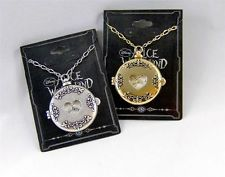 DISNEY Couture ALICE in WONDERLAND GOLD or SILVER Plated WATCH LOCKET Necklace
