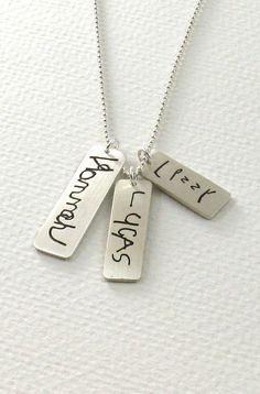 Personalized Children's Signature Necklace by Metalmorphis on Etsy, $120.00
