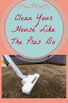 Clean Your House using the same process the pros do!  Efficient & effective