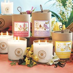 Brighter World by #PartyLite - rare fragrance ingredients from exotic places in 96% soy blend candles.