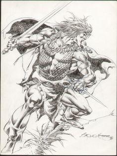 Conan by Rudy Nebres Comic Art