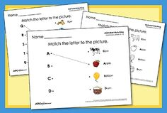 Check out our complete set of Preschool Alphabet Matching printables! Practice matching uppercase and lowercase letters.