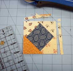 Double Delight Part 1.  Bonnie Hunter's way of making Square in a Square
