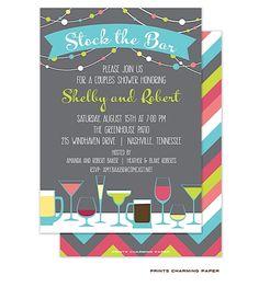 Stock The Bar Invitations 459 Stock The Bar Announcements Invites