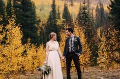 This Fall wedding is literally, wedding goals!