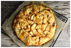 Apple Almond Galette with Toffee Almond Drizzle via a farmgirl's dabbles