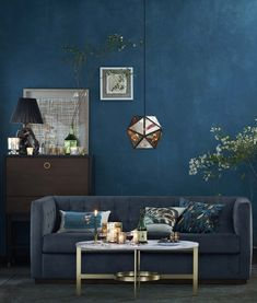 Living room colour schemes moody blues