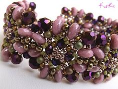 Ritával's Laira bracelet.  Such unusual but becoming colors!