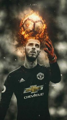 Manchester United goalkeeper, David De Gea is ready to commit his long-term future to the Red Devils unless he is handed wages of over Manchester United Fans, Manchester United Wallpaper, Fifa, Real Madrid, Premier League Champions, Football Art, Football Wallpaper, Man United, Everton