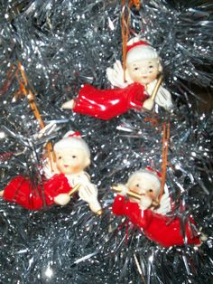 BEAUTIFUL Vintage Christmas Angel Ornaments by thetrendykitchen, $25.00