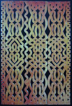 Porte en bois sculpté - Art Marron - Guyane / Suriname