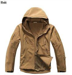 OUMIZHI Militaer Taktische Softshell Jacke outdoor Fleece Kapuzenjacke