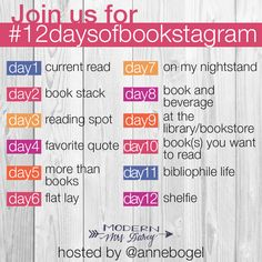 12 days to a better #bookstagram