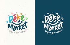 Pekemarket corporate identity on behance logo inspiration logo design, logo Logo Inspiration, Lettering, Typography Logo, Kids Branding, Logo Branding, Camp Logo, Cake Logo Design, Party Logo, Blog Logo