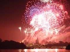 Photos of fireworks at Disney