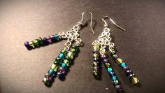 Pop of color handmade earrings