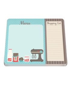 Look what I found on #zulily! Shopping List Two-Section Notepad #zulilyfinds