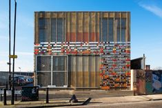 LYN atelier uses recycled material from london 2012 olympic games for hub 67