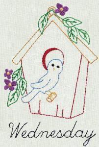 BIRDHOUSES DOW - Aunt Marthas Machine Embroidery   OregonPatchWorks