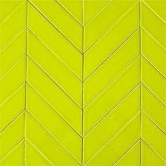 modwalls USA made ceramic subway tile in yellow green color Chartreuse. only whit and charcoal - mix is cool Chevron Tile, Yellow Chevron, Contemporary Kitchen Tiles, Modern Bathroom, Scallop Tiles, Black Tiles, White Tiles, Doors And Floors, Ceramic Subway Tile