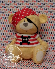 Teddy Bear Pirate- crochet toy https://www.etsy.com/listing/258971614/teddy-bear-pirata-crochet-toy?ref=shop_home_active_1