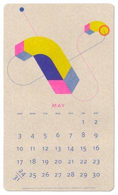 2015 Isometric Risograph Calendar by Jp King – Paper Pusher