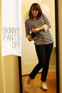 skinny pants diy