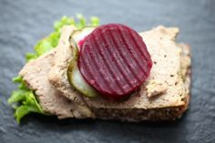 A #Danish paté also known as Leverpostej. Not to everyone's taste, but it's a delicious in an open-sandwich.