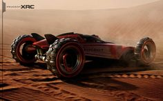 Futuristic Car, Peugeot XRC Concept by Tiago Aiello, Future Car, Dune Buggy, Futuristic Vehicle